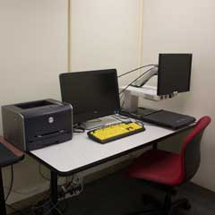 Workstation in an Assistive Technology Room