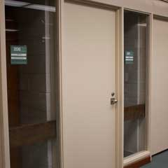 Doors and windows of faculty study rooms