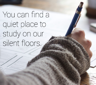 Find a quiet place to study!