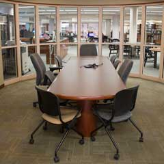Large conference table in the Retriever Learning Center Seminar Room