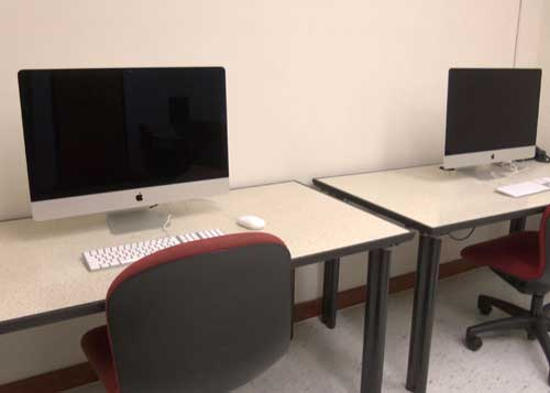 Two iMac workstations