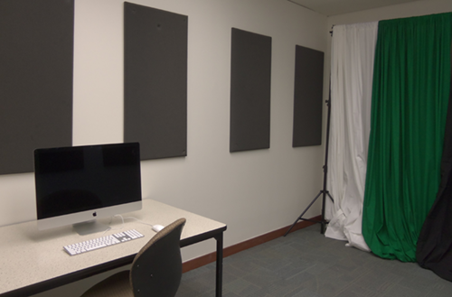 The Audio/Video Recording Room in the Digital Media Lab
