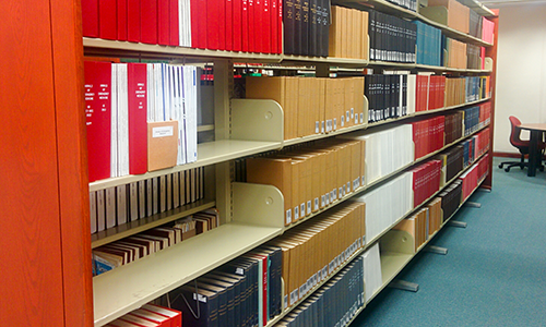 range of bound volumes in the serials section